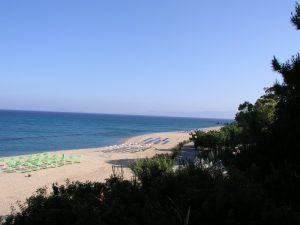Skala a very popular tourist destination with the island's longest beach.